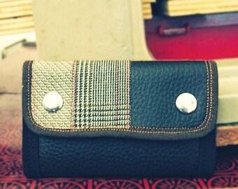 Handmade Wallet, Personalized Wallet, Vegan, Leather Wallet, Steampunk Wallet, Small Wallet Trifold, Mens Wallet - UNUSUAL Wallet
