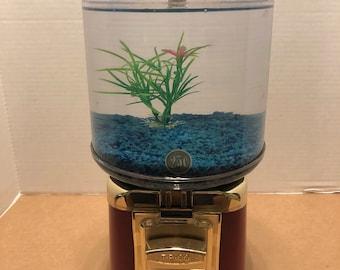 Vintage Gum Ball Machine Fish Tank - Round