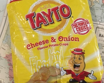 Handmade Recycled Tayto Cheese & Onion Crisps Pouch
