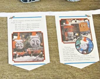 Thomas The Tank Engine Bunting - Train Birthday Party Nursery Decor - Baby Shower Homewares Banner Garland