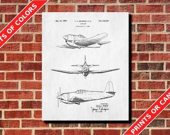 Airplane Decor, Airplane Blueprint, Airplane Room Decor, Vintage Aircraft Design Poster, Aviation Blueprint, Flying Decor, Pilot Gift