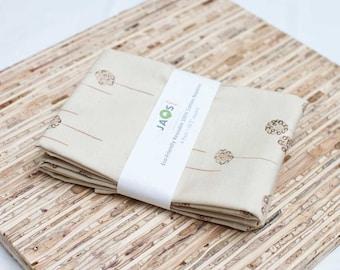 Large Cloth Napkins - Set of 4 - (N247) - Beige Modern Reusable Fabric Napkins