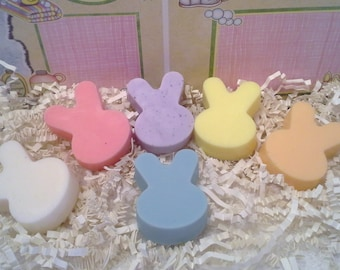 Mini Easter Bunny Glycerin Soap Set, Small Bunny Soaps, Bunny Soaps, Easter Soap Set, Easter Gift, Easter Set, Childrens Soap Favors