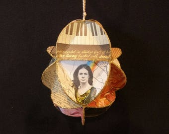 Carole King Album Cover Ornament Made Of Record Jackets