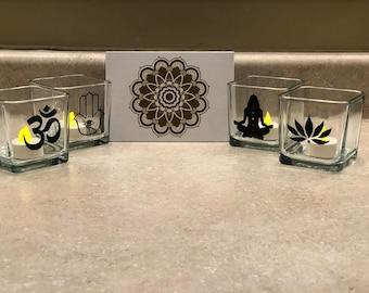 Meditation Candle Holders & Mandala
