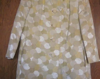 Vintage Pale Yellow Coat Circles