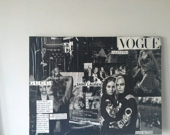 Vogue inspired collage canvas