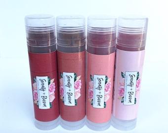 Organic Tinted Lip Balm   100% Natural   Serenity + Blossom