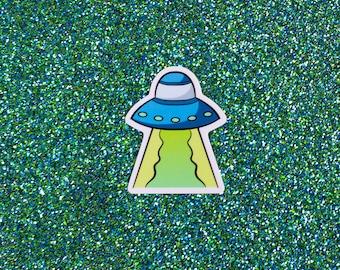 Alien Abduction Sticker