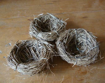 "Mini bird nests embellishments 2"" mini twig Spring floral supplies garden cottage craft projects natural decor twigs bird decorations"
