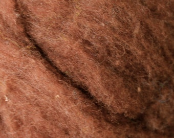 Polypay Wool Roving for Spinning -- Brown