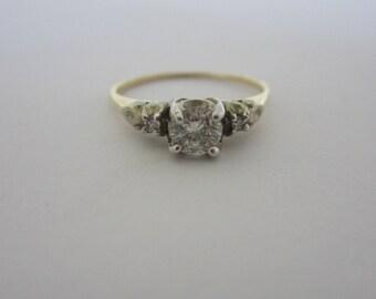 14k Diamond Engagment Ring, Diamond Jewellery, Vintage Wedding, April Birthstone