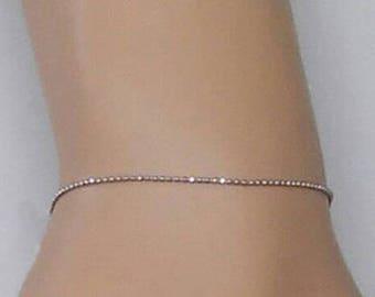 Solid Gold Bead Bracelet - 14k Gold Bead Chain - Diamond Cut - Petite Bracelet - Minimalist Jewelry - Bridal Jewelry - Stacking Bracelet