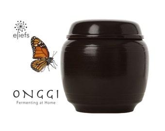 Fermenting at home with eleifs Onggi | Kimchi, sauerkraut, soysauce, vinegar etc. | 100% Eco-friendly & Breahting | fermentation crock (2L)