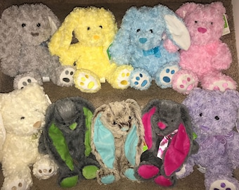 Personalized Embroidered Baby Shower Gift, Easter Bunny (Bunnies), Easter Basket Gifts, Plush Rabbit, Newborn baby