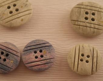 BUTTONS: Matte buttons, 2 colors, 2 sizes, set of 11 buttons.