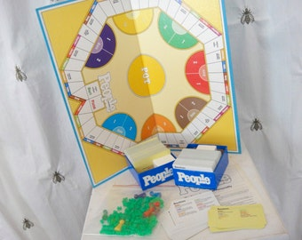 Vintage People Weekly Trivia Board Game, People Magazine, Parker Brothers, 1984, Celebrity, Family Game Night, Home Decor, Game Room, Trivia