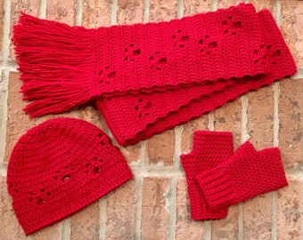 Paws Scarf, Hat & Glove Set