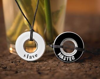 BDSM Master Slave Resin Coated Washer Bracelets
