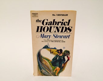 Vintage Gothic Romance Book The Gabriel Hounds by Mary Stewart 1968 Paperback
