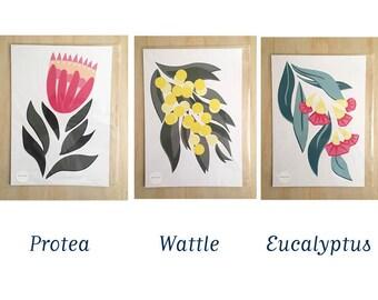 Australian native flower prints A4 & A3