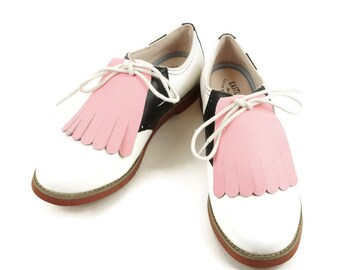 Kilties for Womens Golf Shoes, Womens Saddle Shoes, Lindy Hop Shoes Swing Dance Shoes Golf Gifts for Women Shoe Accessories Golf Accessories