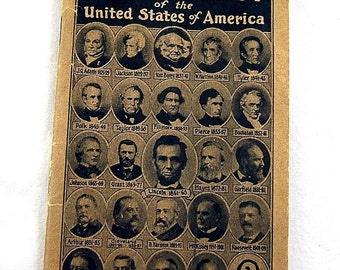 Vintage United States USA  President Presidency Fact Book from 1923 (S-Etsy)