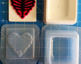 Ribcage  Heart Trinket boxes molds