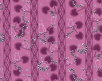 SALE - Cotton + Steel - Lagoon Collection - Lemur Forest in Orchid