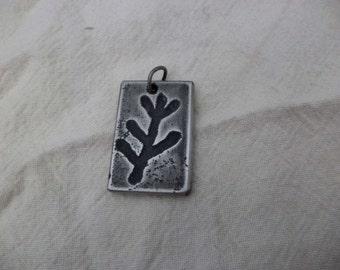 Etched Aluminum Elder Rune Pendant
