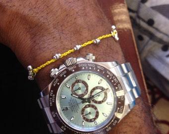 Bracelet Colo 09L Sterling Silver Knotting Cord Handmade (B109LSS-K)