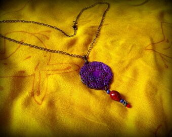 "Purple Locket necklace ""Lydia"""