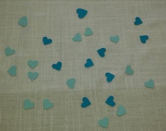 Blue table confetti