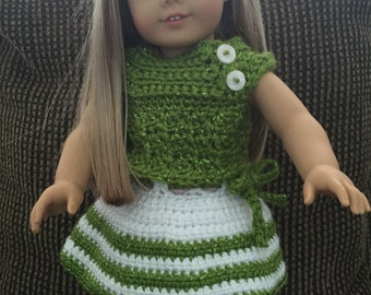 American Girl Doll Skirt and Sweater Set
