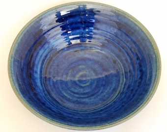 Large Blue Stoneware Bowl    SHIPPING INCLUDED