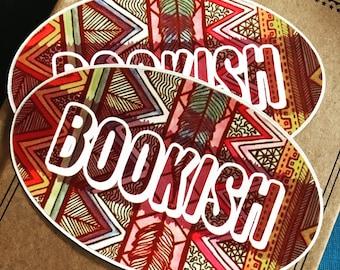 Bookish Sticker, Book Sticker, Read Decal, Car Decal, Adventure Sticker, Library Decal, Book Lover Sticker, Writer Decal, Reading Sticker