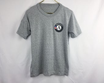 Vintage 90s Americorps Heather Gray T-Shirt / Soft Tri Blend Tee