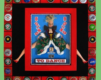 Recycled Assemblage on Wood - 3 D Whimsical Dance Theme