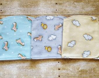 Zoo animal baby gift | Boy burp cloth sets | Zoo animal baby | Burp cloths boy | Baby burp cloths | Burp cloths | Baby burp cloth sets