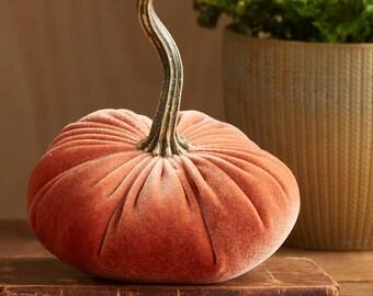 Velvet Pumpkin Harvest, modern rustic mantle decor, entryway decor, modern cottage farmhouse decor, mom gifts for her, best selling items