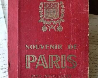 15 Vintage French Colored Postcard Paris Book,  Postcard Collection - Paris, Artistic photographs