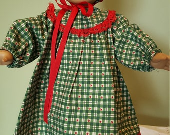 """Pioneer Dress, leggings and bonnet fit AG or 18"""" doll"""