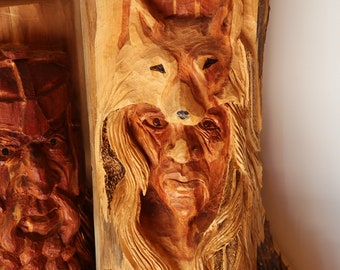 Wood Carving Viking King