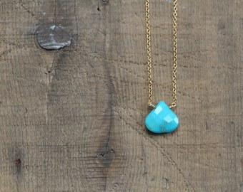 Sleeping Beauty Turquoise Necklace Gold Chain