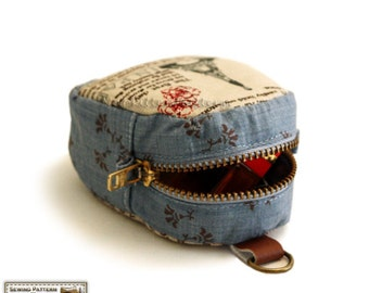 The key pouches sewing pattern, coin purse pattern zippered--- PDF (two sizes)