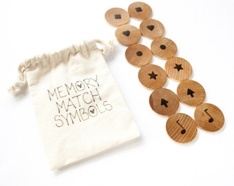 Natural Wood Memory Matching Educational Game For Children