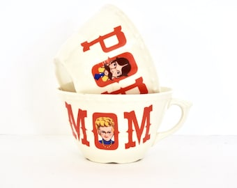Kitschy Mom and Pop Cups- Mugs
