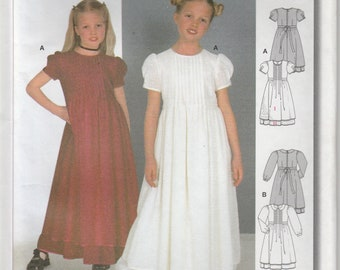 Girls Dress Pattern Long Flower Girl Wedding Girls Size 7 - 8 - 9 - 10 - 11 - 12 Uncut Burda 2621