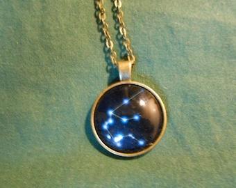 zodiac star Aquarius necklace