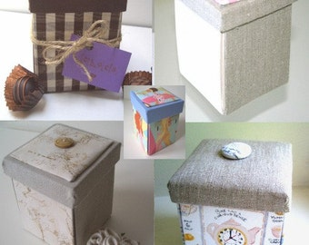 Tutorial for Small Etui Box - Sewing Box, Treasure Box, Memory Keeper, Gift Box